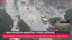 Apagão deixa toda a Argentina e parte do Uruguai sem luz