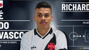 Vasco se acerta com o Corinthians e anuncia o volante Richard por empréstimo