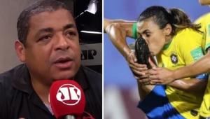 Chuteira sem patrocínio? Vampeta critica protesto de Marta: 'Está rasgando dinheiro'