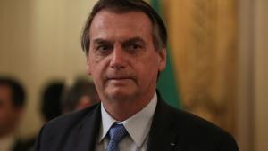 O presidente Jair Bolsonaro durante reunião ampliada com o presidente da Argentina, Mauricio Macri.