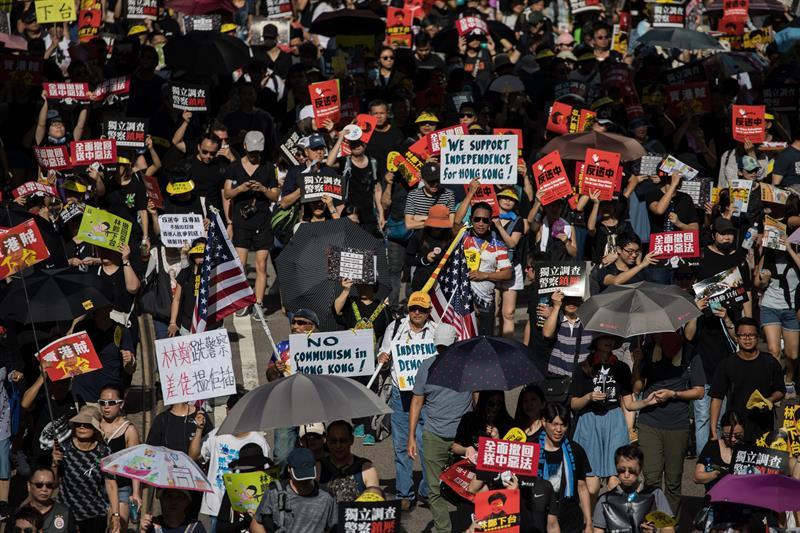 China condena apoio de parlamentares dos EUA a protestos em Hong Kong