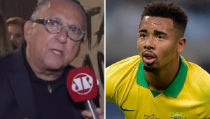 Galvão Bueno exalta Gabriel Jesus após 2 a 0 na Argentina: 'Ele deu uma lição para muita gente'