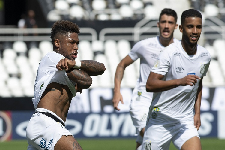 Com golaço de Marinho, Santos vence Botafogo e iguala Palmeiras na liderança do Brasileiro