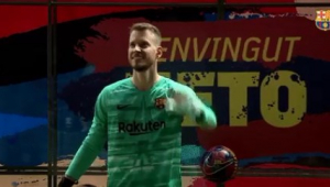 Neto diz que sempre quis ser goleiro e fala de orgulho por jogar pelo Barça