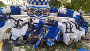 Vídeo: Brinquedo quebra em parque de diversões na Índia e deixa dois mortos e 27 feridos