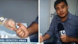 'Só uma picada': Repórter da Globo segura as lágrimas durante teste de hepatite; veja