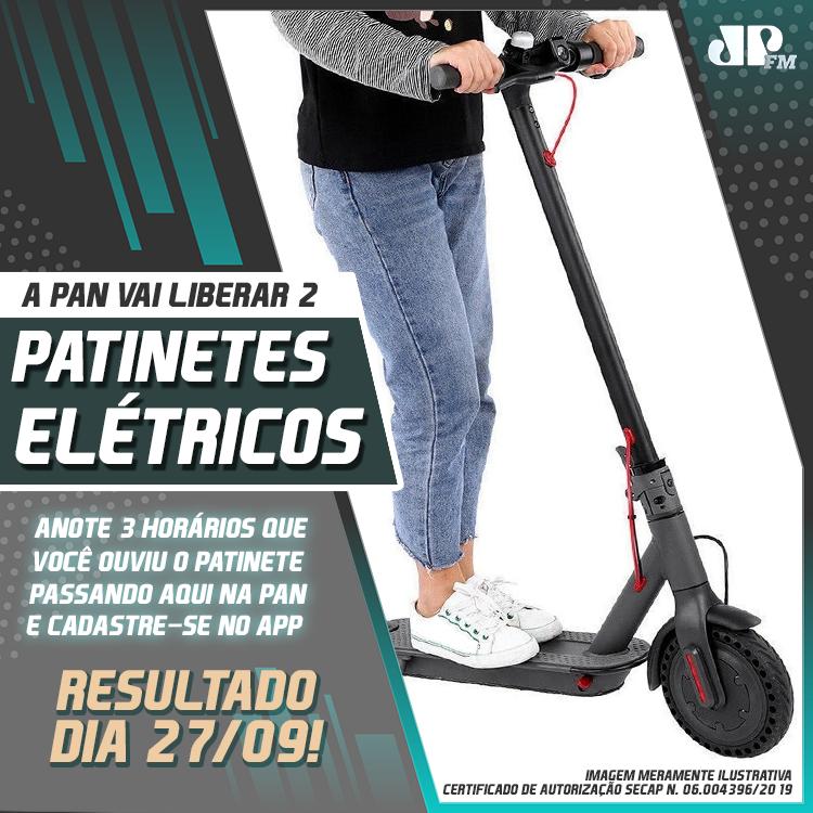 Promoção patinete elétrico da Pan