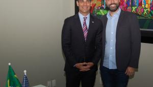 Prefeito de Miami, Francis Suarez, e Bruno Covas