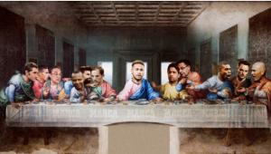 Jornal coloca Neymar como Jesus Cristo na Última Ceia para explicar negociações