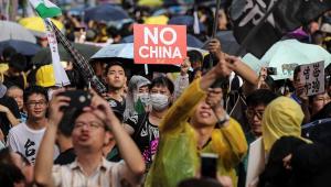 Protestos Hong Kong Dia da China