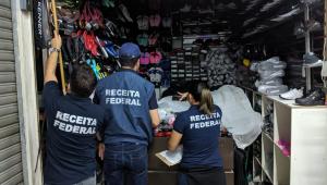 Receita Federal conclui operação no Brás com 870 toneladas de mercadorias apreendidas