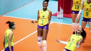 Seleção feminina de vôlei se recupera e volta a vencer na Copa do Mundo