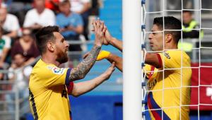 Que trio! Barcelona vence Eibar com gols de Griezmann, Messi e Suárez