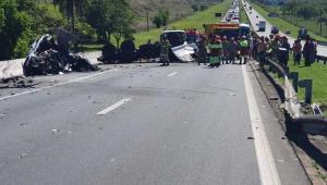 Polícia identifica seis vítimas de acidente na Dutra; bebê tinha 29 dias
