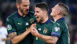 Brasileiro marca, e Itália, de verde, garante vaga na Euro 2020