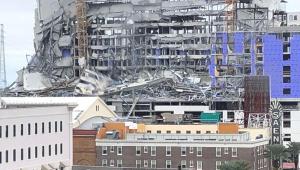 Obra do Hotel Hard Rock desaba em Nova Orleans, nos EUA; veja