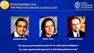 Nobel de Economia 2019 vai para iniciativa em aliviar a pobreza no mundo